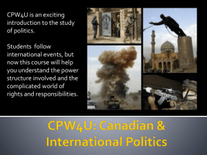 Canadian and International Politics