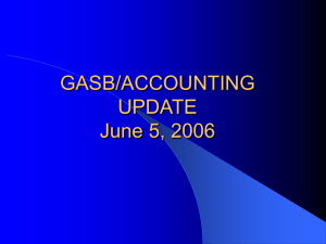 GASB/ACCOUNTING UPDATE October 28, 2004