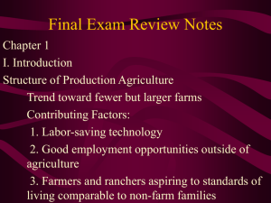 Exam 1 Review Notes - Department of Agricultural Economics
