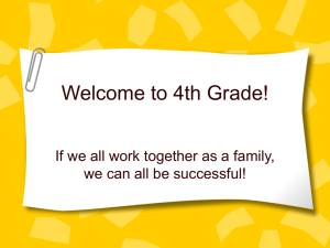 Welcome to 4th Grade! - Warren County Schools