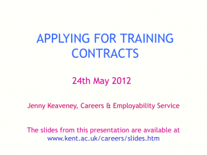 Applying for training contracts