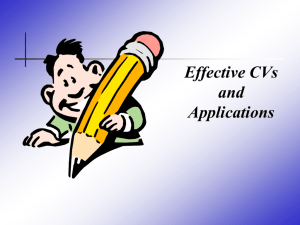 View a Powerpoint presentation on effective applications