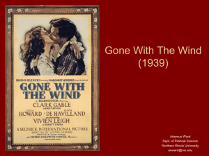 Gone With The Wind (1939) - Northern Illinois University