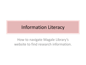 Information Literacy PowerPoint