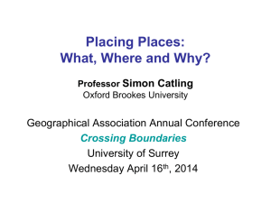 Placing Places - Geographical Association