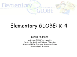Elementary GLOBE - Center for Math and Science Education