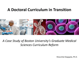 A Doctoral Curriculum in Transition Presentation