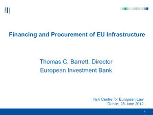 Financing and Procurement of EU Infrastructure