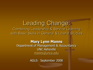 Leading Change: Combining Leadership & Service