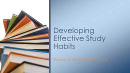Developing Effective Study Skills Presentation
