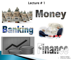 Financial Markets - Superior University Gujranwala Campus