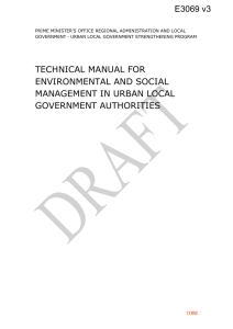 TEMPLATE N o 2: Environmental and Social Management Plan