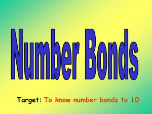 Target: To know number bonds to 10.
