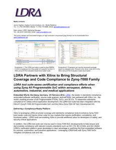 LDRA Partners with Xilinx to Bring Structural Coverage and Code