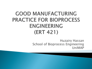 good manufacturing practice for bioprocess
