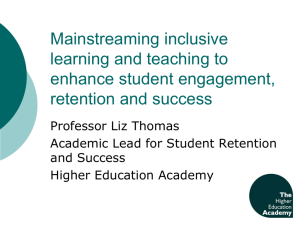 Mainstreaming inclusive learning and teaching to enhance student