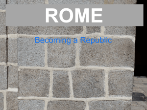 Rome - Beginnings of Republic
