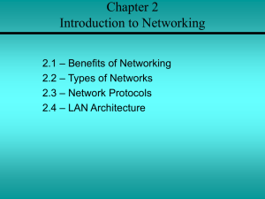 Chapter 2 Introduction to Networking