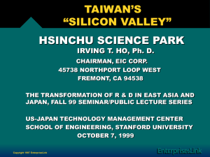"taiwan's ""silicon valley"" - US-Asia Technology Management Center"