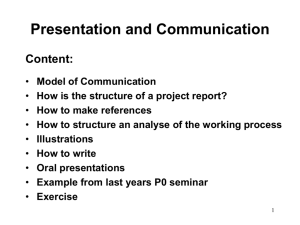 Presentation and Communication