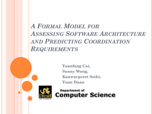 A Formal Model for Assessing Software Architecture and Predicting