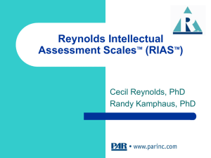 RIAS - Psychological Assessment Resources, Inc.