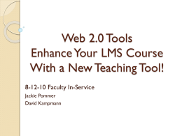 Web 2.0 Tools - Academic Support