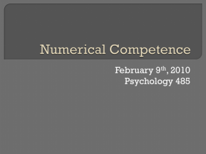 Numerical Competence