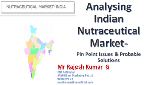 Analysing Indian Nutraceuticals Market