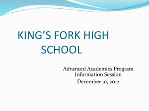 2012-2013 Advanced Academics Program Slide Revised