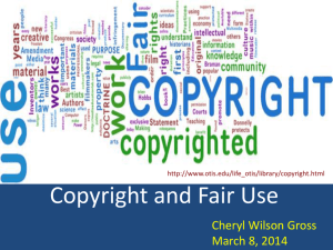 Copyright and Fair Use PowerPoint Presentation