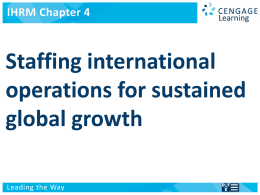 4. Staffing International Operations for Sustained Global Growth.