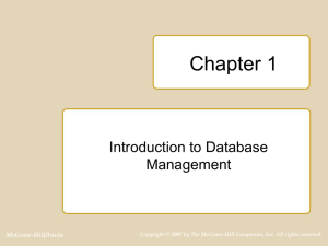 Chapter 1 of Database Design, Application Development and