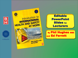 Introduction to International Health and Safety at Work is