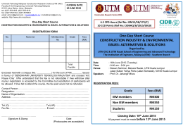 Registration Form for 1-Day Course