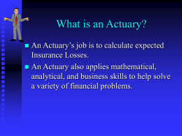 Betsy Wellington's Actuarial Career Presentation #1