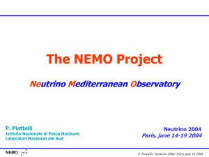The NEMO tower - Istituto Nazionale di Fisica Nucleare