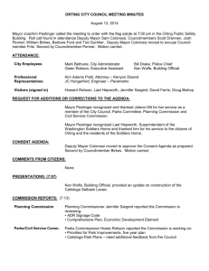 ORTING CITY COUNCIL MEETING MINUTES August 13, 2014