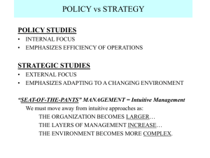 intro to strategic management and planning