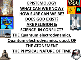 qed of Atonement 2 of 2 - All Science Leads to God