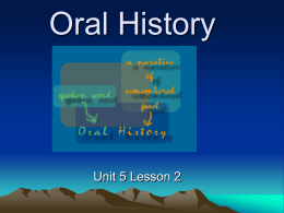 Oral History - Open Court Resources.com