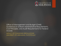 Office of Management and Budget (OMB) Guidance on