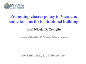 Promoting cluster policy in Vietnam: some lessons for institutional
