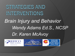 Brain Injury and Behavior - Colorado Kids Brain Injury Resource