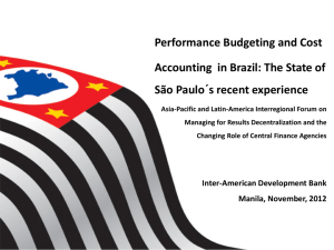 Performance Budgeting and Cost Accounting in Brazil