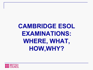 Why Cambridge ESOL exams?