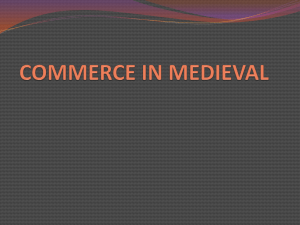 COMMERCE IN MEDIAVEL