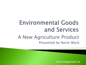 Environmental Goods and Services