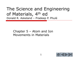 The Science and Engineering of Materials, 4th