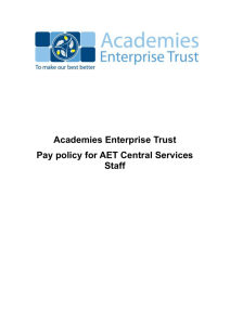 Pay policy for AET Central Services Staff